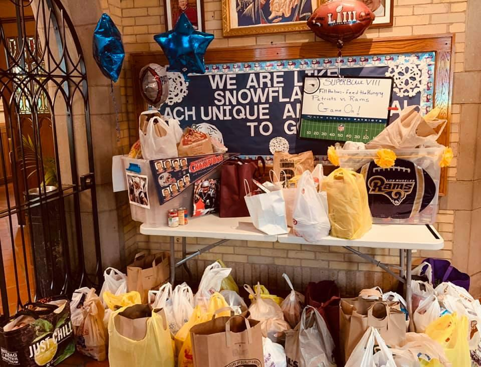 "Our ""Super Bowl"" Food Pantry challenge"